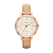 ES3487 - Jacqueline Three-Hand Leather Watch - Camel
