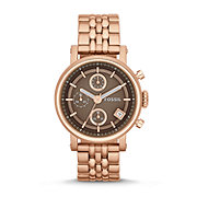 ES3494 - Original Boyfriend Three-Hand Stainless Steel Watch - Rose