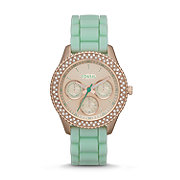 ES3495 - Stella Multifunction Silicone Watch - Mint