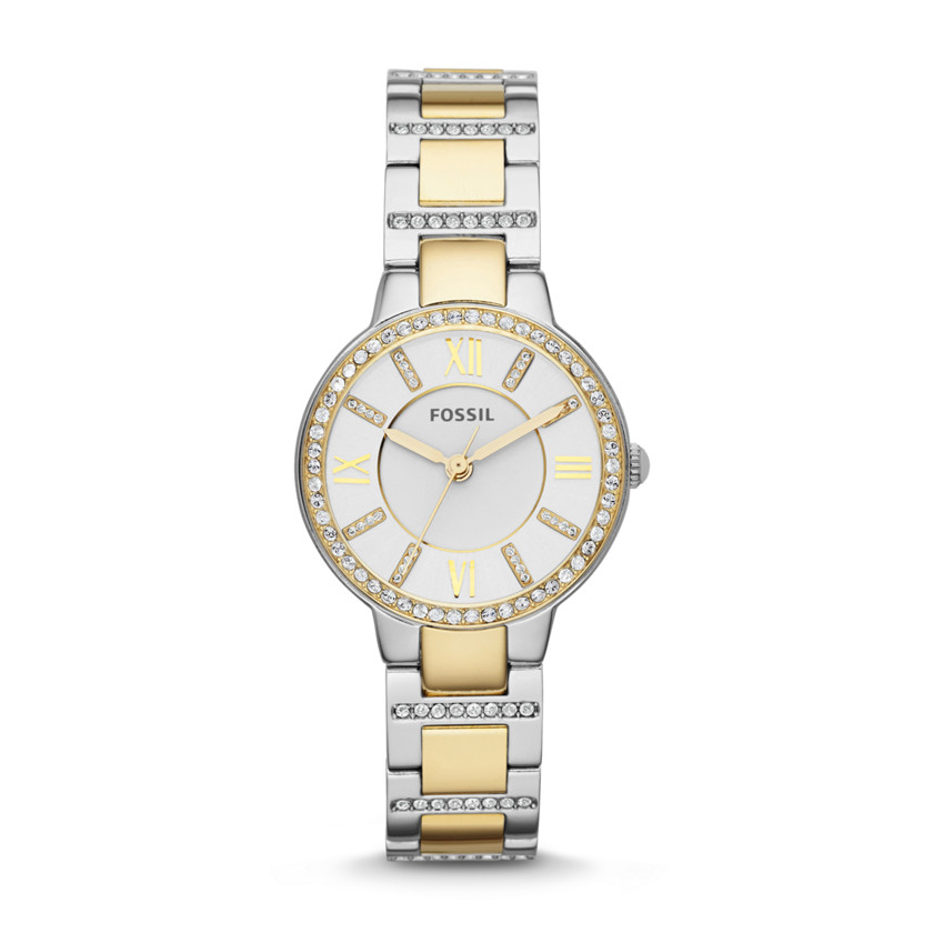Fossil  Virginia Three-Hand Stainless Steel Watch - Two-Tone  22530086