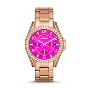 ES3531 - Riley Multifunction Stainless Steel Watch – Rose Gold-Tone