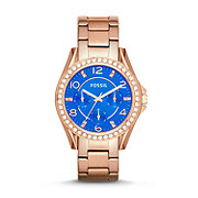 ES3569 - Riley Multifunction Stainless Steel Watch – Rose Gold-Tone