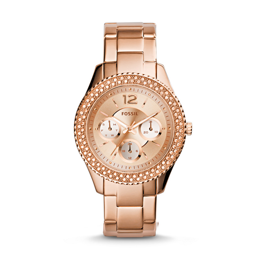 Fossil  Stella Multifunction Stainless Steel Watch - Rose  22560012