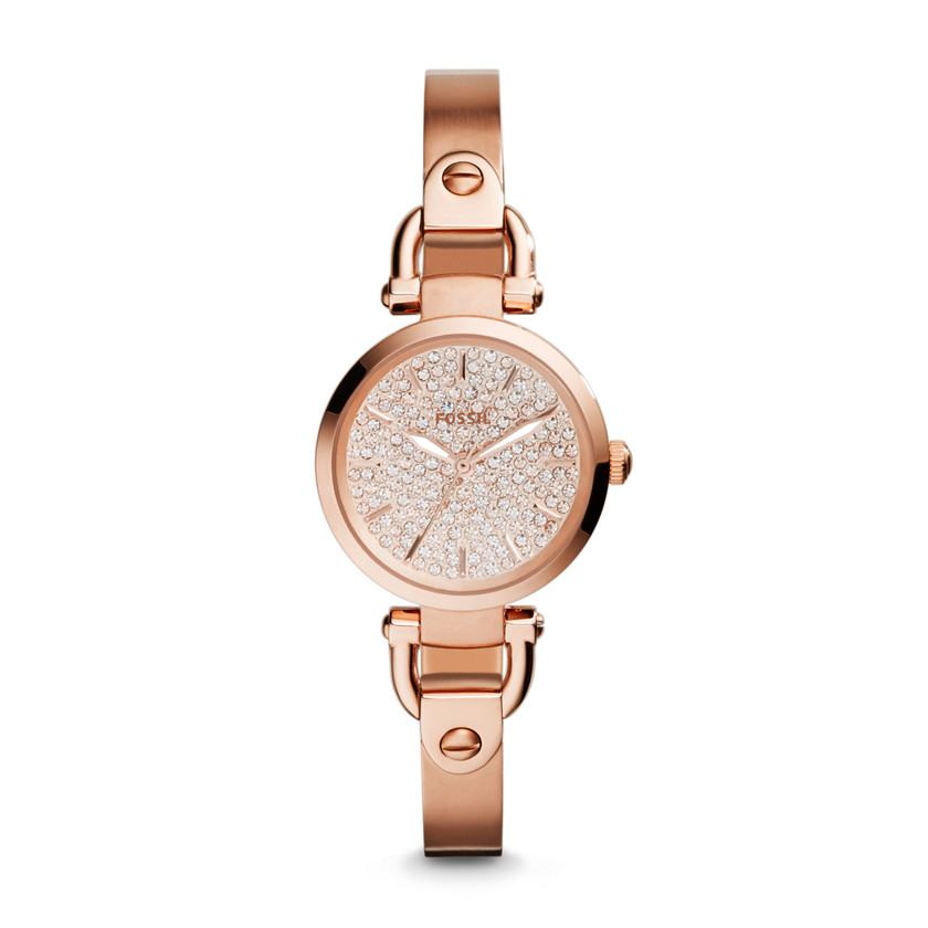 Fossil  Georgia Three-Hand Stainless Steel Watch - Rose  22575856