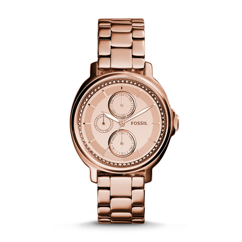 Fossil  Chelsey Multifunction Stainless Steel Watch - Rose  New
