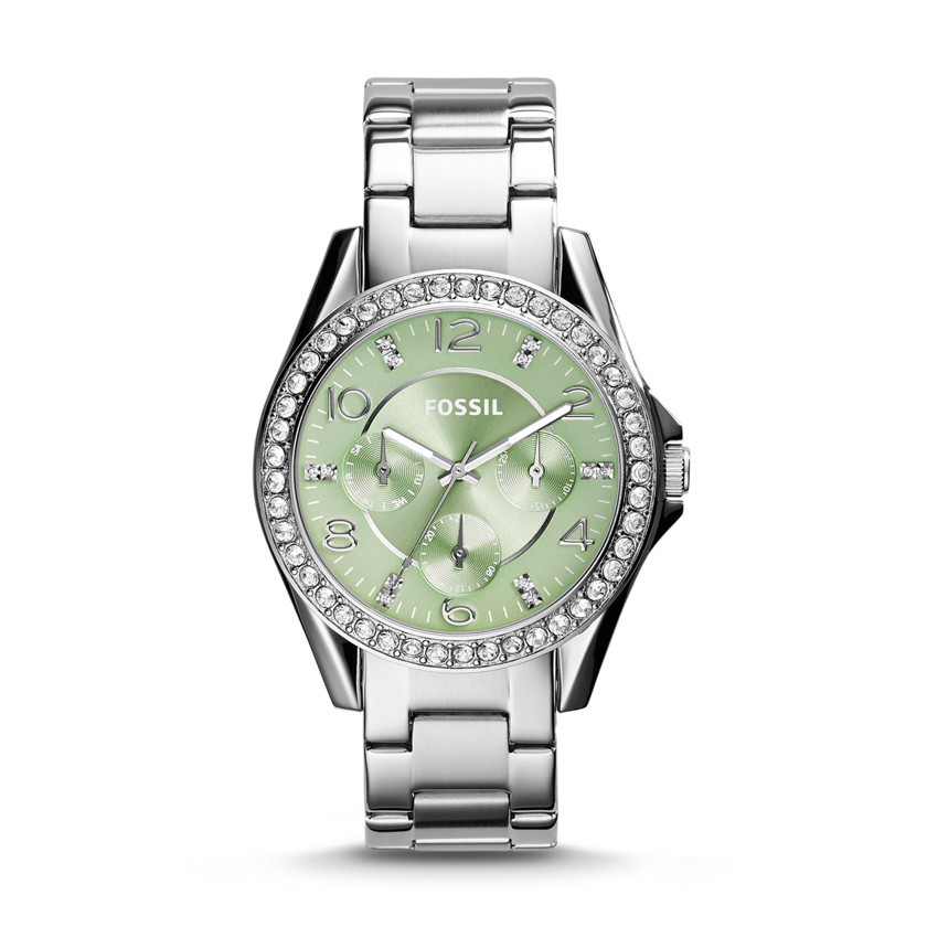 Fossil  Riley Multifunction Stainless Steel Watch  New  22576038