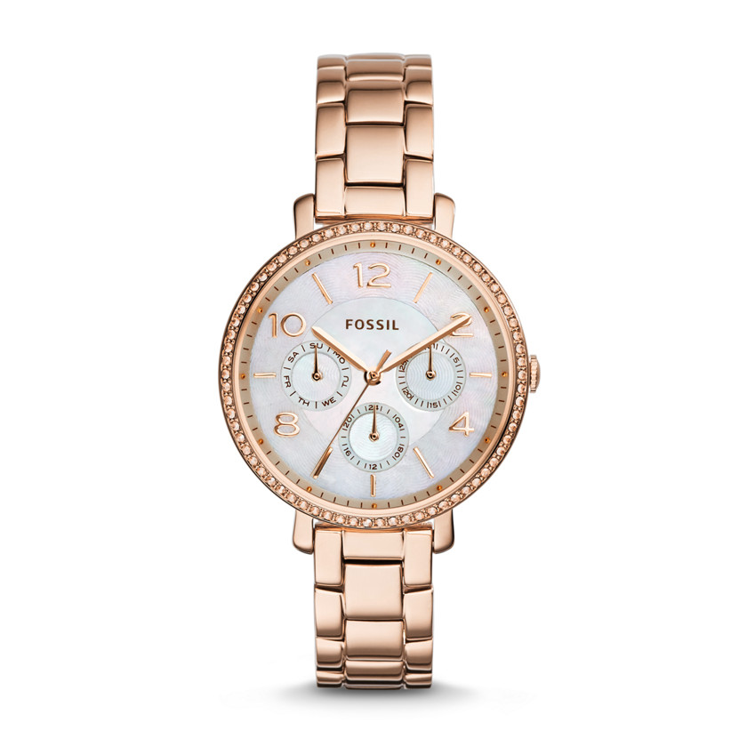 Fossil  Jacqueline Multifunction Stainless Steel Watch - Rose  New
