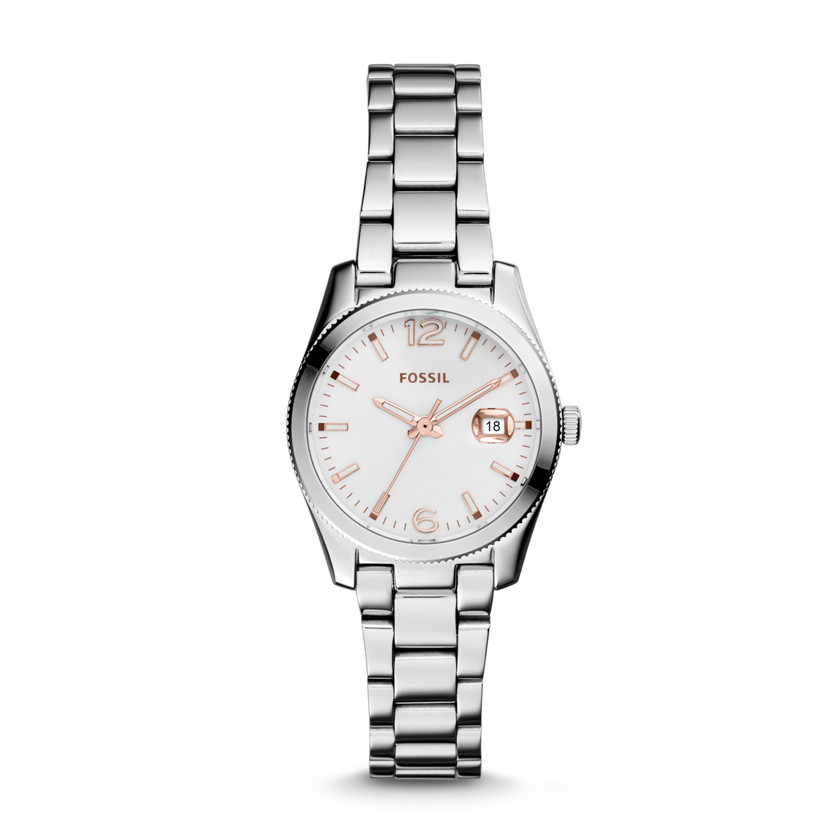 Fossil  Perfect Boyfriend Small Three-Hand Date Stainless Steel Watch