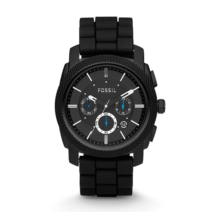 Fossil  Machine Chronograph Silicone Watch - Black  22115699