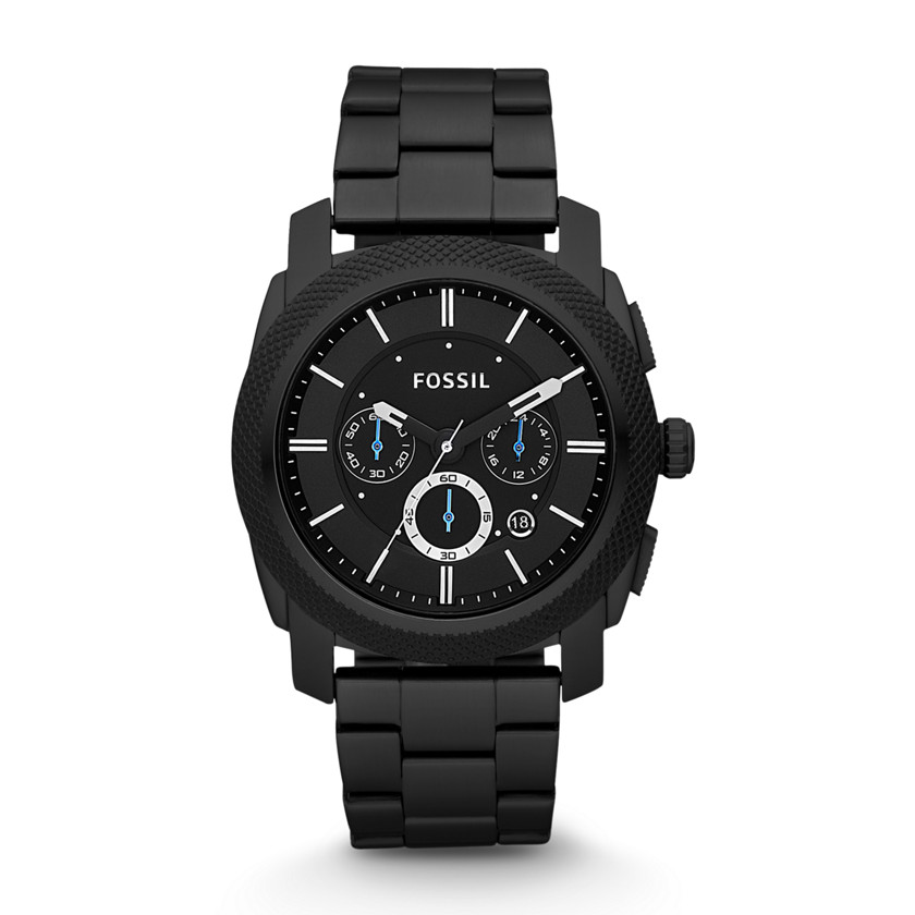 Fossil  Machine Chronograph Stainless Steel Watch - Black  22178042