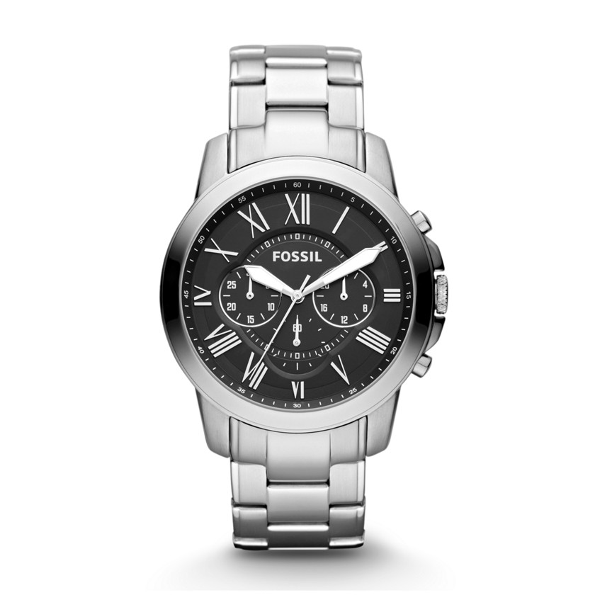 Fossil  Grant Chronograph Stainless Steel Watch  22345434