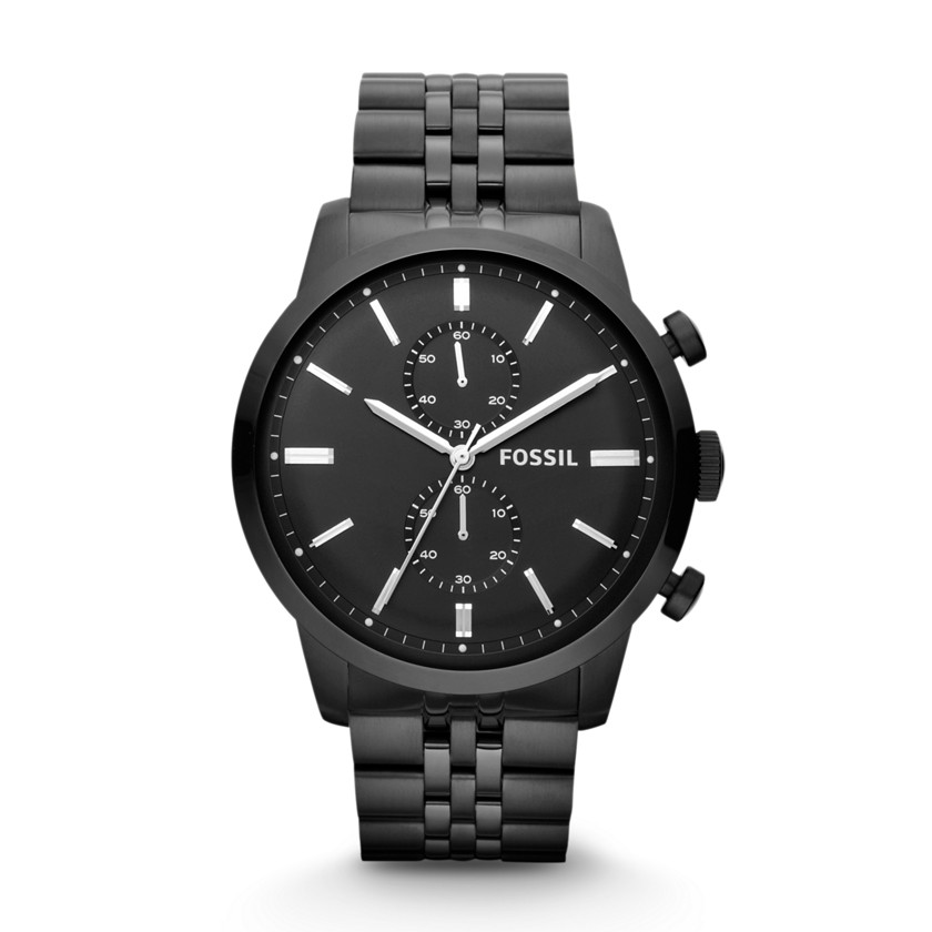 Fossil  Townsman Chronograph Stainless Steel Watch - Black  22396528