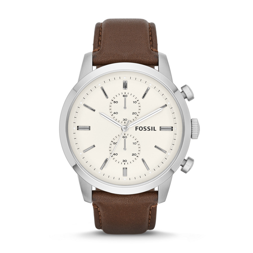 Fossil  Townsman Chronograph Leather Watch - Brown  22456691