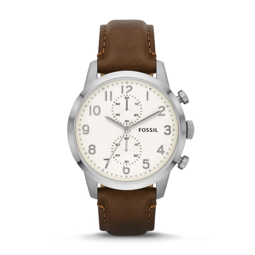 Fossil  Townsman Chronograph Leather Watch - Brown  22529992