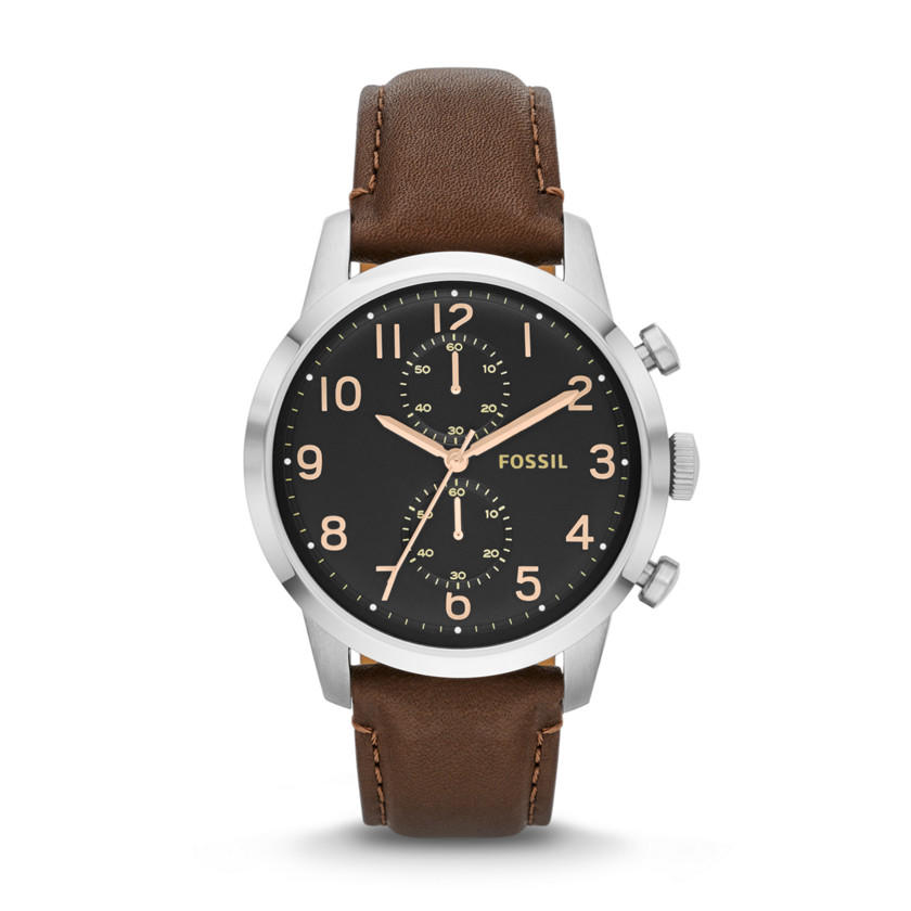 Fossil  Townsman Chronograph Leather Watch - Brown  22529994