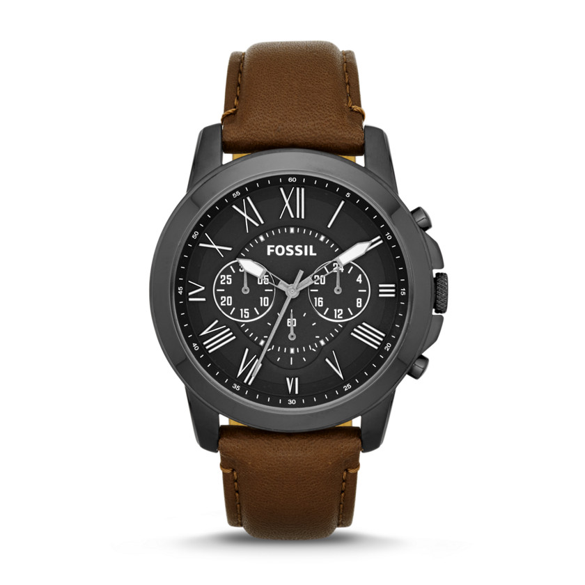 Fossil  Grant Chronograph Leather Watch - Brown  22530008