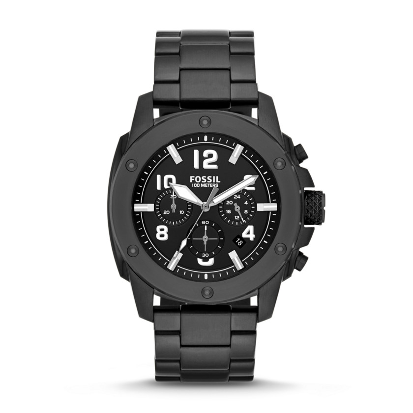 Fossil  Modern Machine Chronograph Stainless Steel Watch - Black
