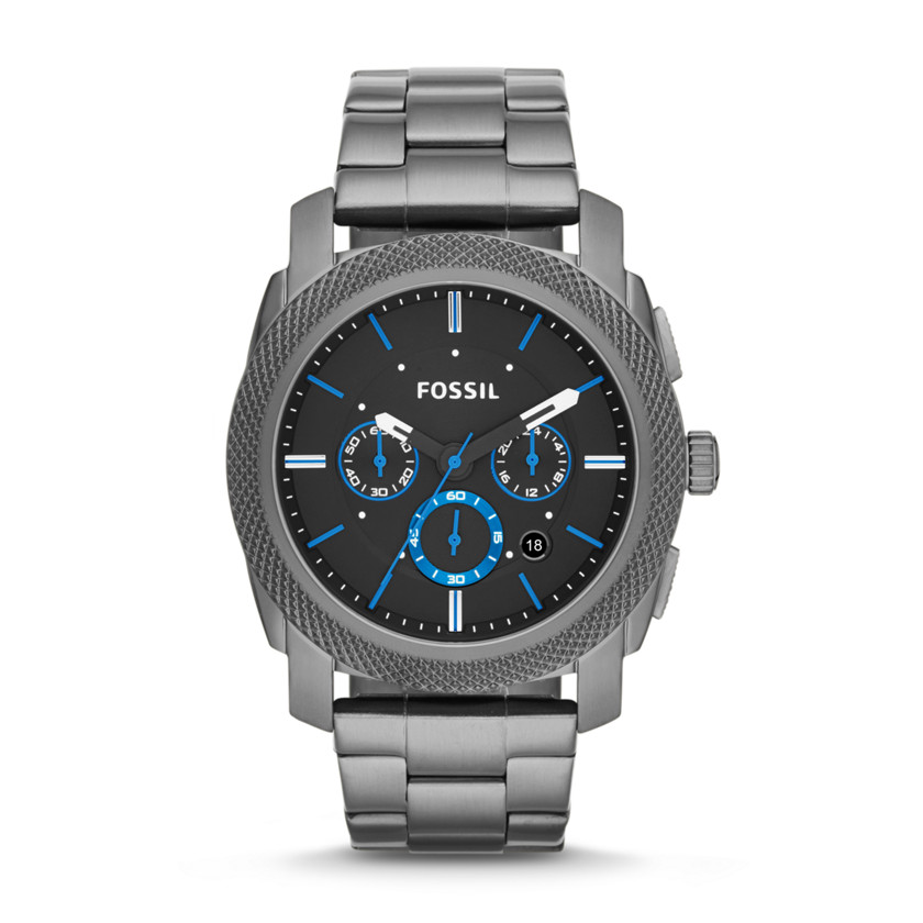 Fossil  Machine Chronograph Stainless Steel Watch - Smoke  22544346