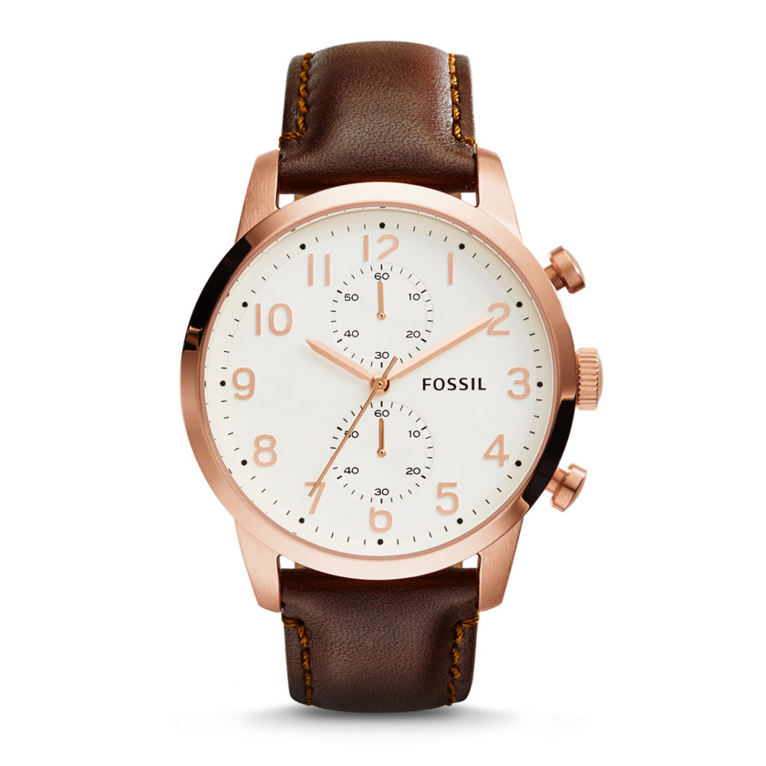 Fossil  Townsman Chronograph Leather Watch - Brown  New  22575904