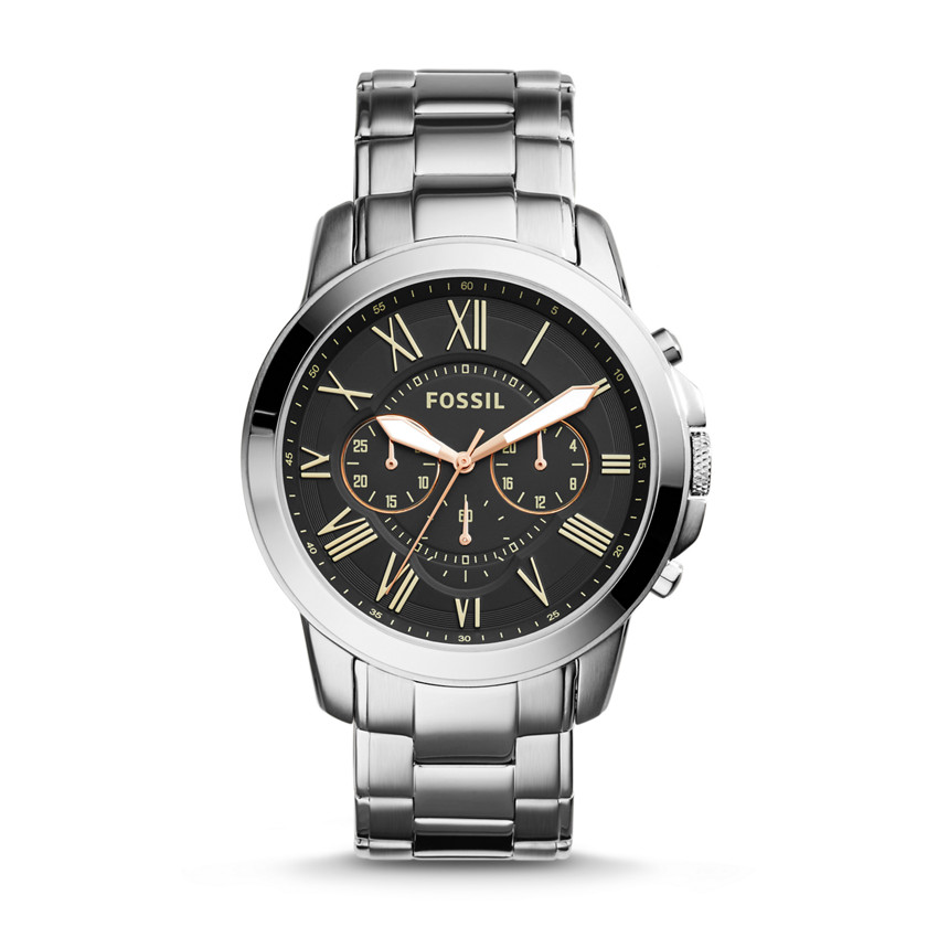 Fossil  Grant Chronograph Stainless Steel Watch  22575914