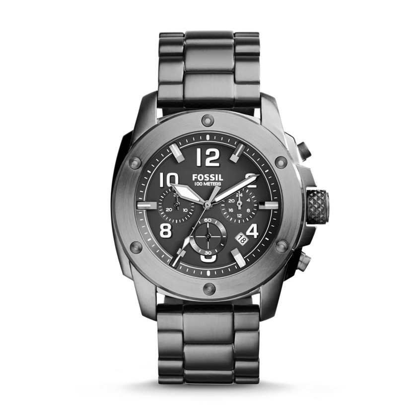 Fossil  Modern Machine Chronograph Stainless Steel Watch - Smoke