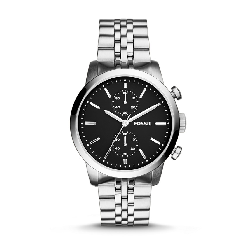 Fossil  Townsman Chronograph Stainless Steel Watch  New  22576120
