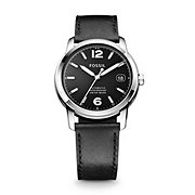 FSW1001 - Swiss Made Automatic Leather Watch - Black