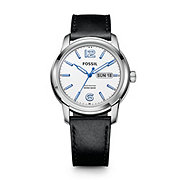 FSW4002 - Swiss Made Day/Date Leather Watch - Black