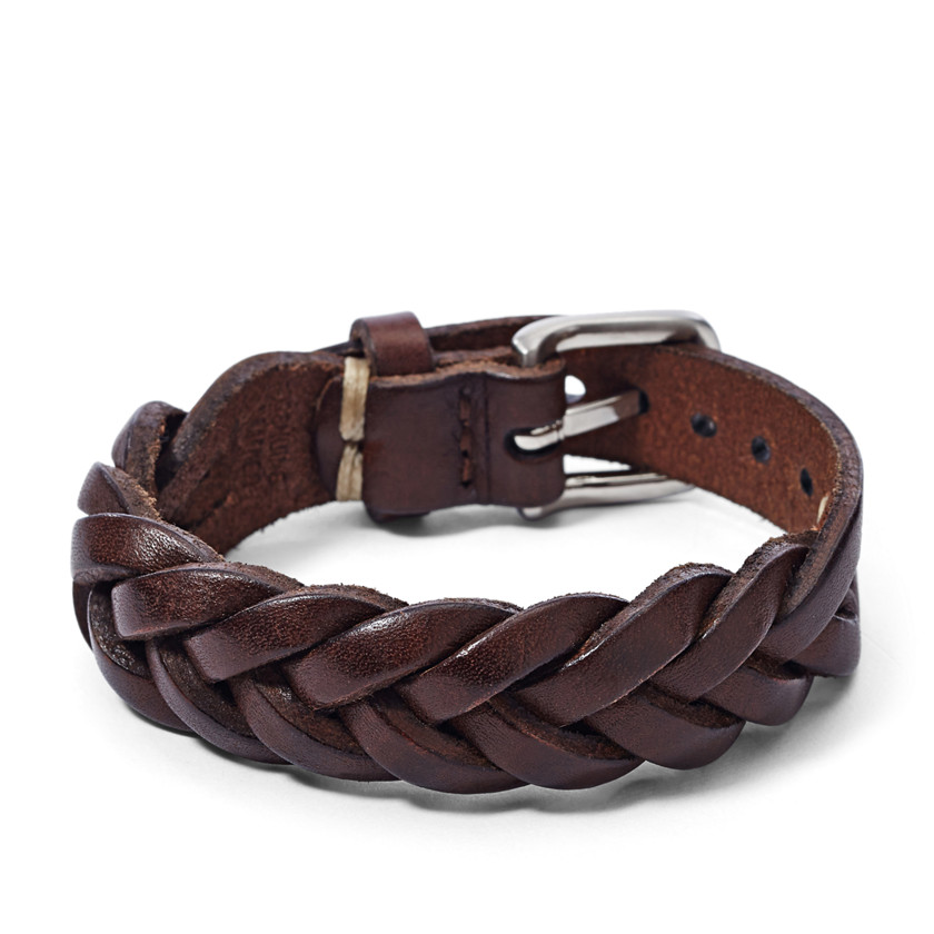 Fossil  Braided Leather Bracelet  22579047