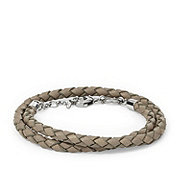 JF01200 - Braided Leather Double Wrap Bracelet