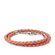 JF01201 - Braided Leather Double Wrap Bracelet