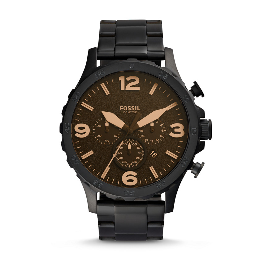 Fossil  Nate Chronograph Stainless Steel Watch - Black  22298427