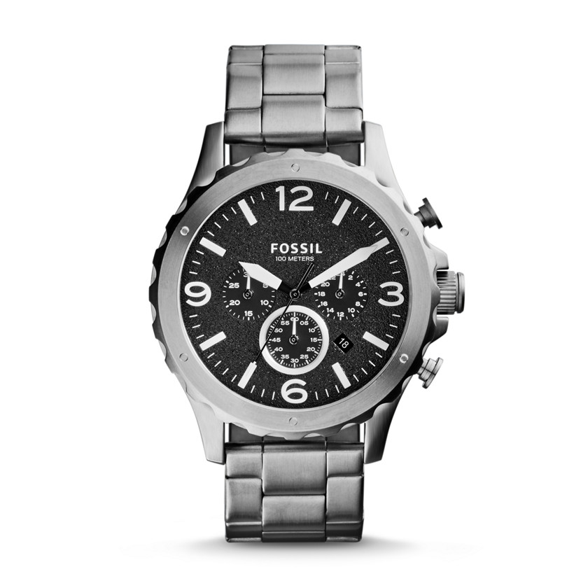 Fossil  Nate Chronograph Stainless Steel Watch  22560170