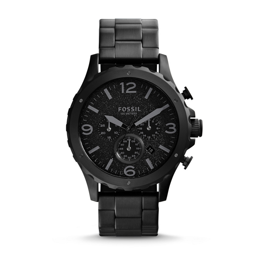 Fossil  Nate Chronograph Stainless Steel Watch - Black  22560174
