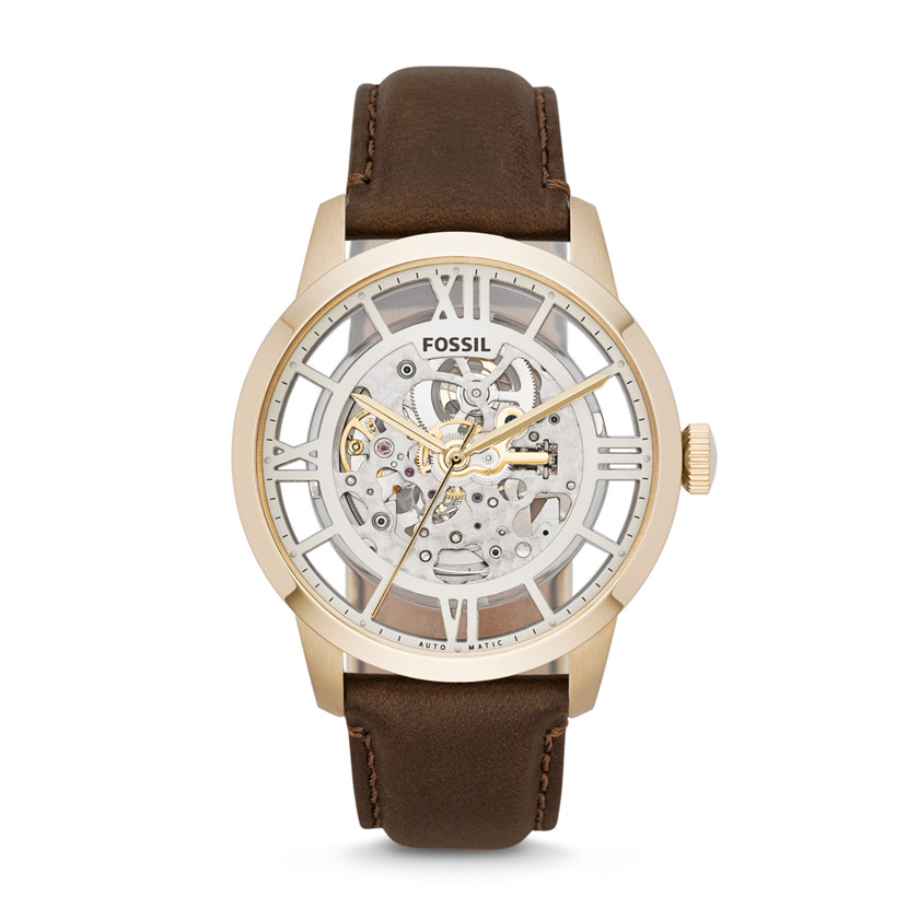 Fossil  Townsman Automatic Leather Watch - Brown  22456711