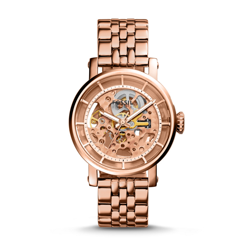 Fossil  Original Boyfriend Automatic Stainless Steel Watch - Rose