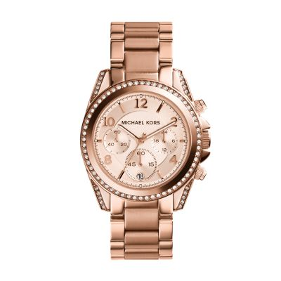 Michael kors watch michael kors rose gold tone blair watch for Michaels craft store watches