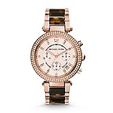 Michael Kors Two Tone Glitz Parker Watch