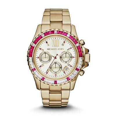 Michael kors watch michael kors gold tone glitz everest for Michaels craft store watches