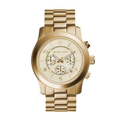 Michael kors watch michael kors mens gold tone runway for Michaels craft store watches