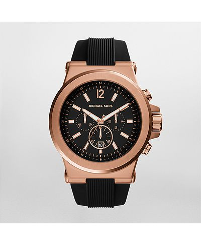 Michael kors watch michael kors mens rose gold tone dylan for Michaels craft store watches