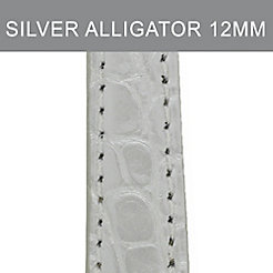 12mm Silver Alligator Strap