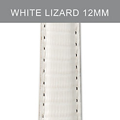 12mm Bright White Lizard Strap