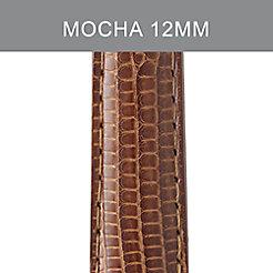 12mm Mocha Lizard Strap