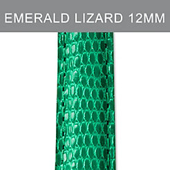 12mm Emerald Lizard Strap
