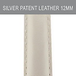 12mm Silver Patent Leather Strap