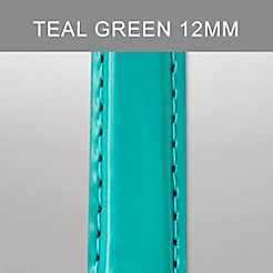 12mm Teal Green Patent Leather Strap