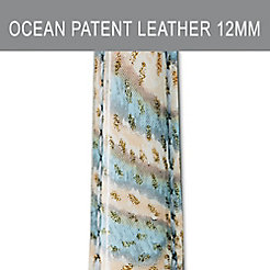 12mm Ocean Wave Patent Leather Strap