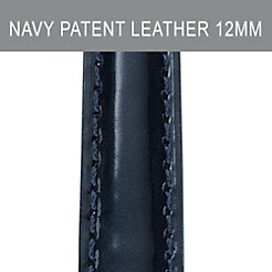 12mm Navy Patent Leather Strap