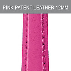 12mm Pink Patent Leather Strap